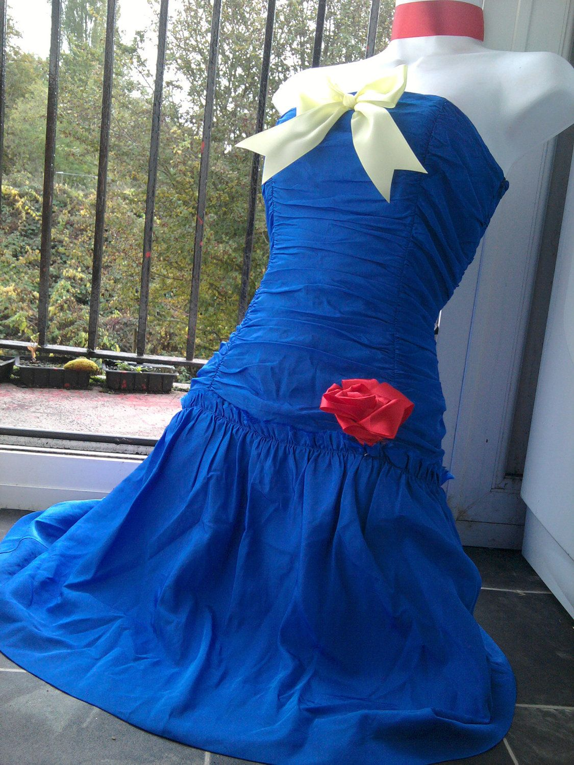 Snow white dress prom dress up costume s wiggle prom blue dress