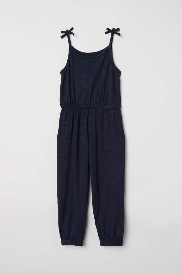 2c1c4e9df1c H M Sleeveless Jumpsuit - Dark blue - Kids