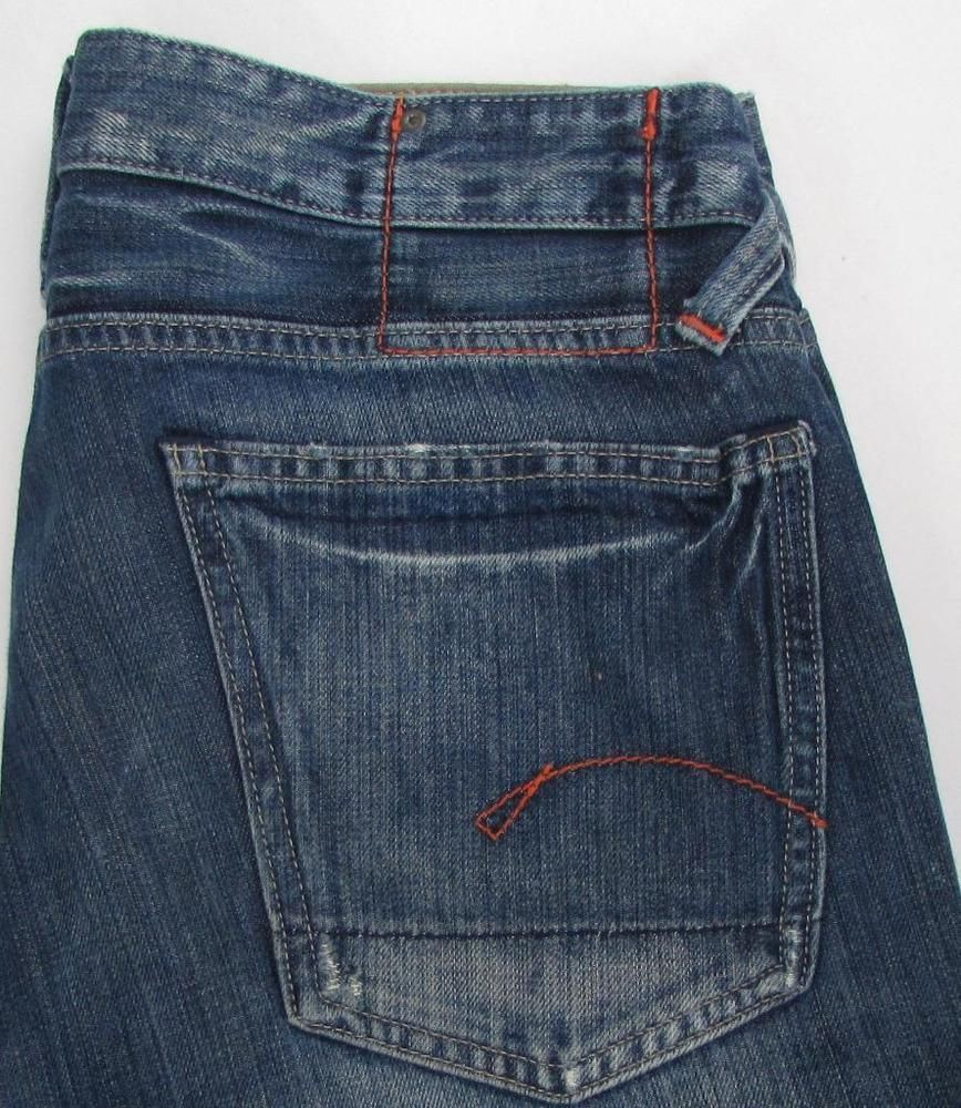 d0a744c48d8 Men G Star Raw Core Custom Jeans Distressed Button Fly Relaxed Fit sz 32 X  34 #GStarRaw #Relaxed