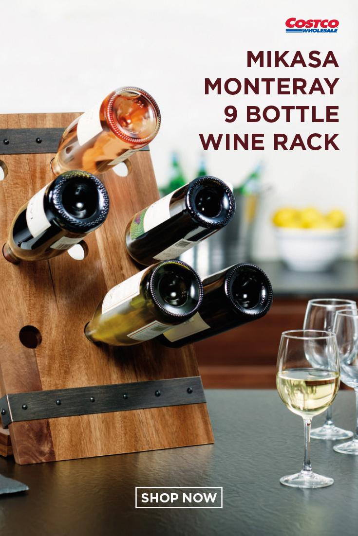 mikasa monteray 9 bottle wine rack