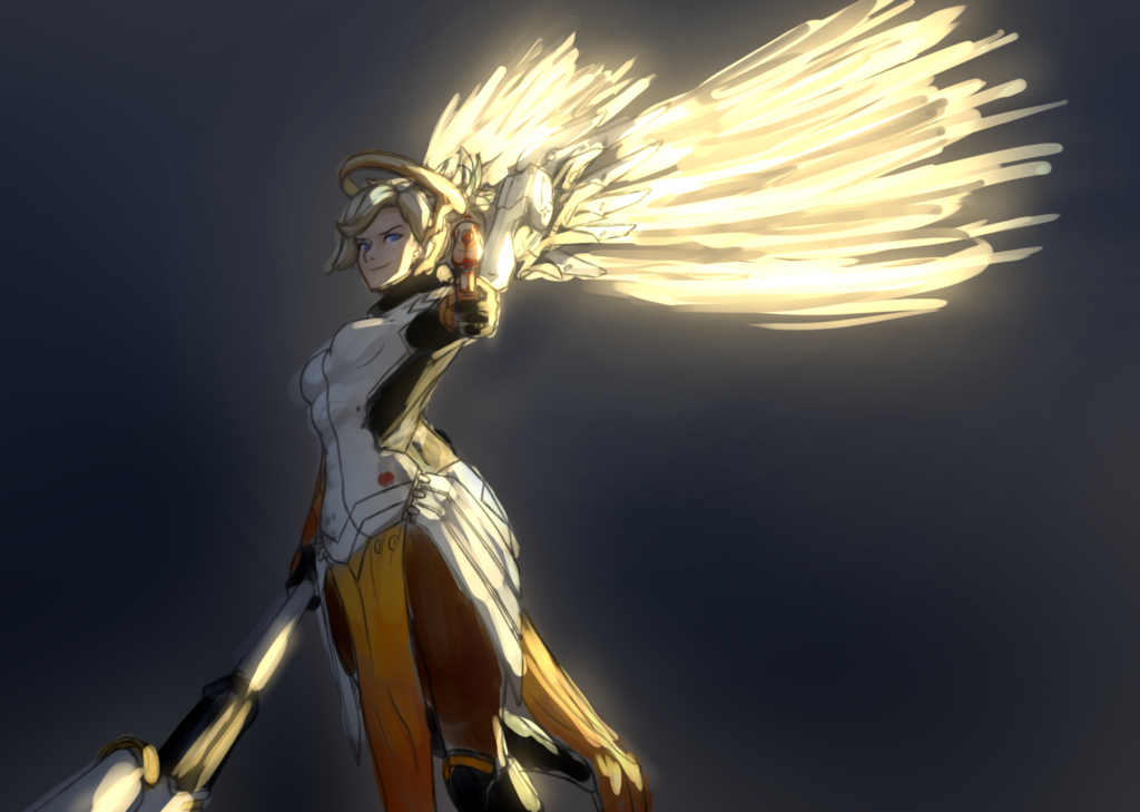 Pin By Oliver On Overwatch Art Mercy Overwatch Overwatch Drawings Overwatch Fan Art