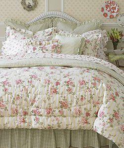 Laura Ashley Yorkshire Rose 4 Piece Comforter Set | Overstock.com Shopping    Great Deals On Comforter Sets