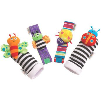 Lamaze Wrist Foot Finders Baby Toys Rattles Baby Rattle Soft Toy Animals