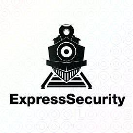 Unique Combination Of A Metallic Shield And A Steam Engine That Created A Shield Train Logo Design For Sale On Stock Logos Security Logo Old Logo Logo Design