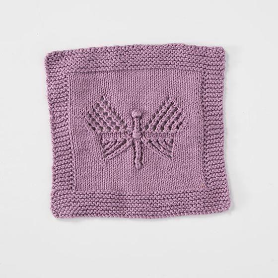Lace Butterfly Dishcloth | Knitting patterns, Knit ...