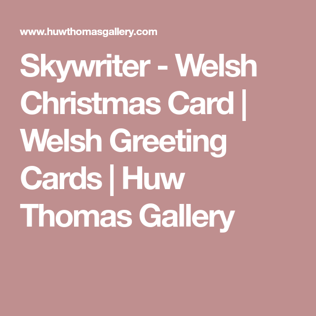 Skywriter welsh christmas card welsh greeting cards huw thomas cards m4hsunfo