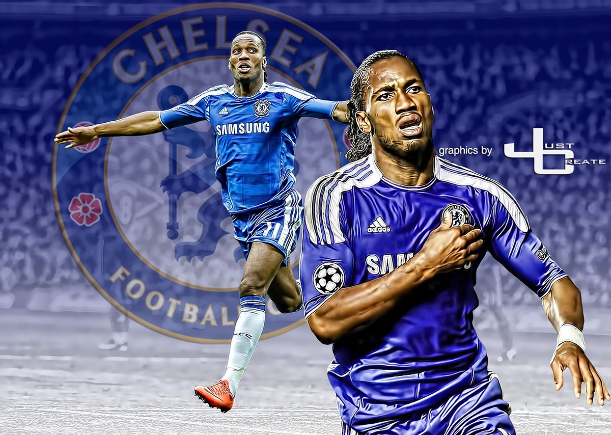 Didier Drogba Graphics By Justcreate Sports Edits Sports Didier Drogba Sport Soccer