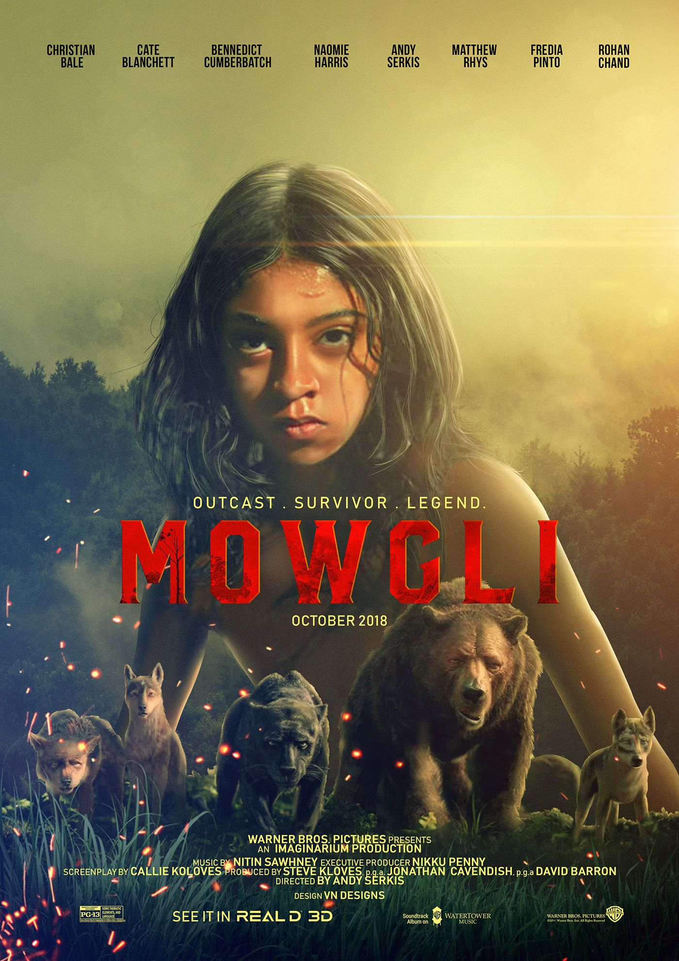 Mowgli 2018 Film Poster Design On Behance Film Poster Design Mowgli