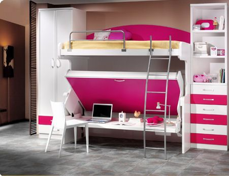 awesome! table under bottom bunk | Guess what | Pinterest | Living ...