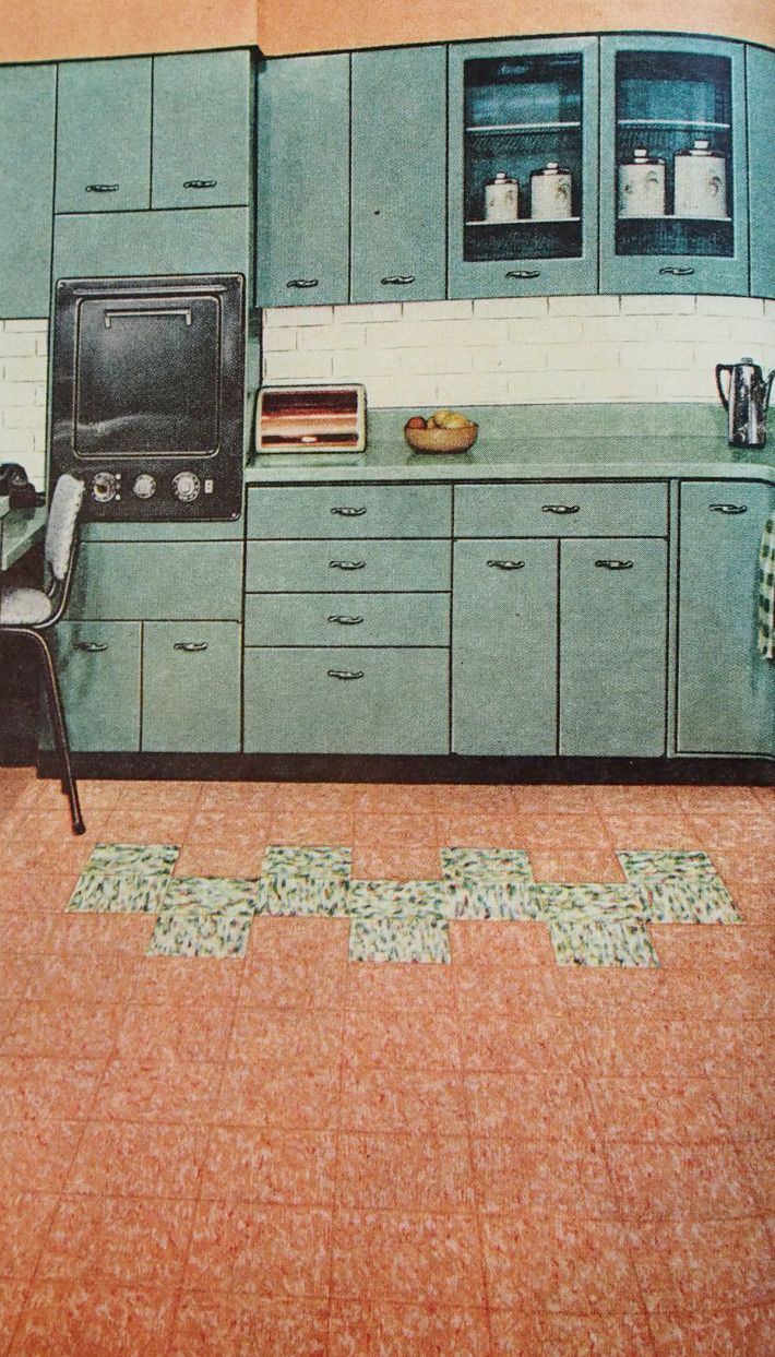 Kitchen Linoleum Flooring By Dominion Linoleum, 1957.