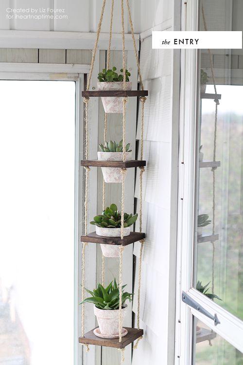 Hanging planter DIY