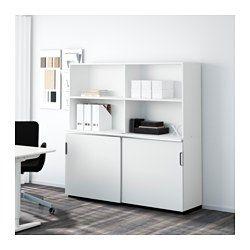 GALANT Mobile con ante scorrevoli, bianco | Sliding door, Storage ...