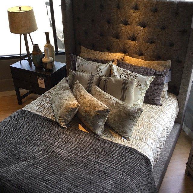 Pin By Ashley Towner On Bedroom Ideas: Ashley Sorinella Queen Upholstered Bed #urbanology #ashleyfurnitureward #homedesignnetwork #oahu