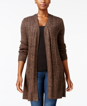 04284a3ee Karen Scott Cable-Knit Duster Cardigan
