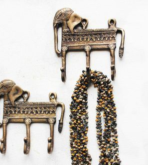 Elephant Wall Hooks, Hand Cast In Brass U2013 Set Of Two, Available At The