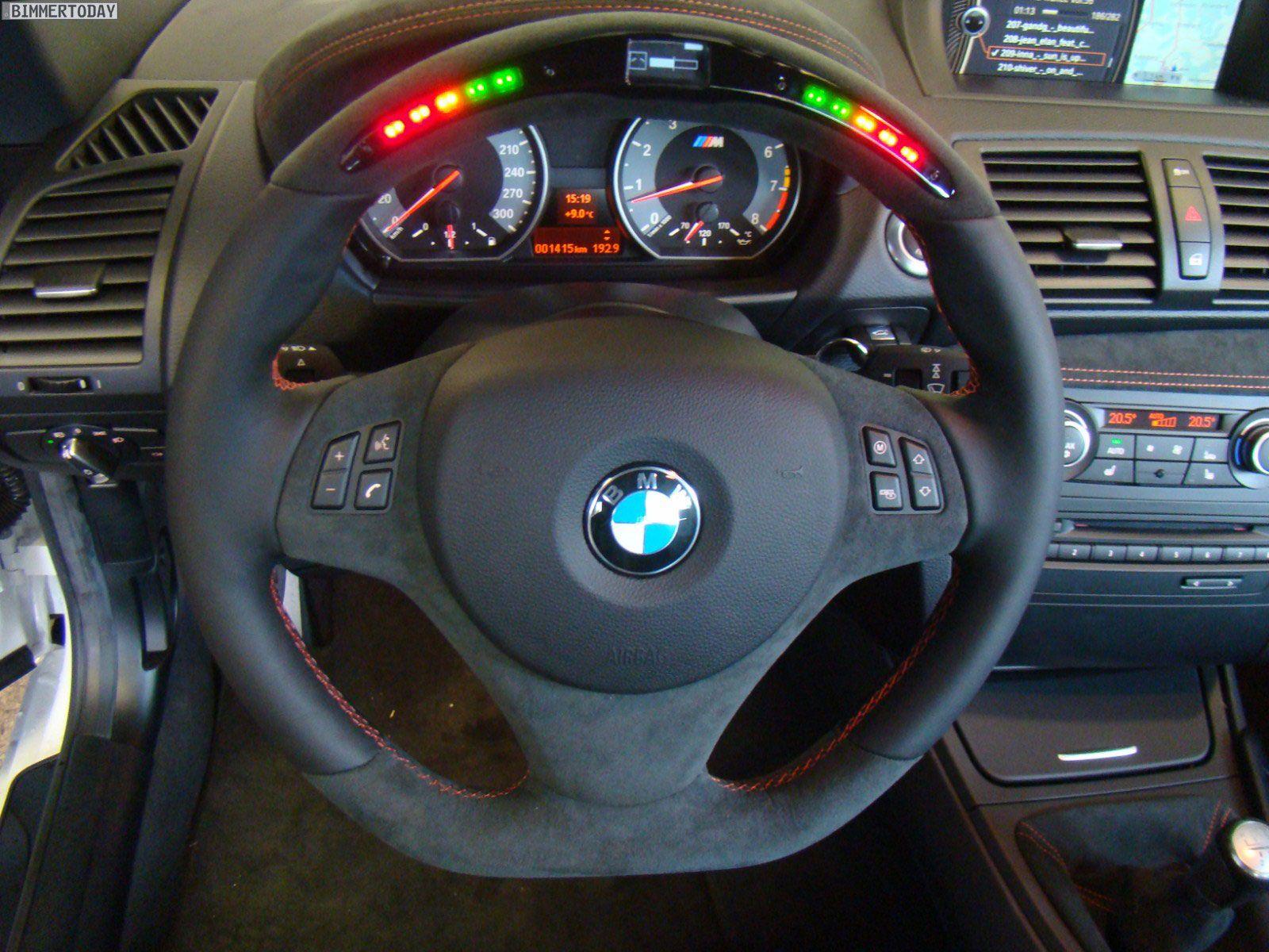 Tvw Car Design Bmw 1 Series M Interior Steering Wheel Details With