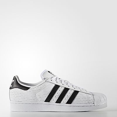 adidas aq8333 uomini originali superstar scarpe bianco nero