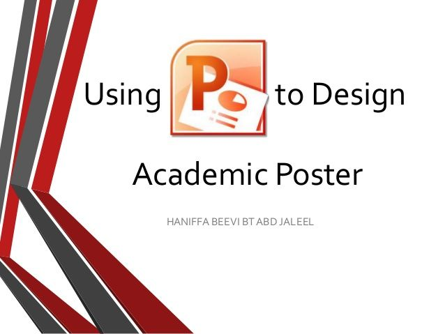 create a poster in powerpoint