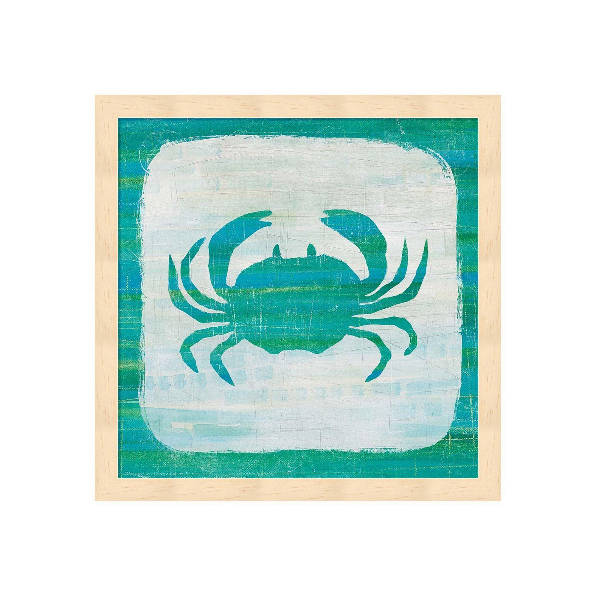 Ahoy V Blue Green Framed Wall Art, Multicolor