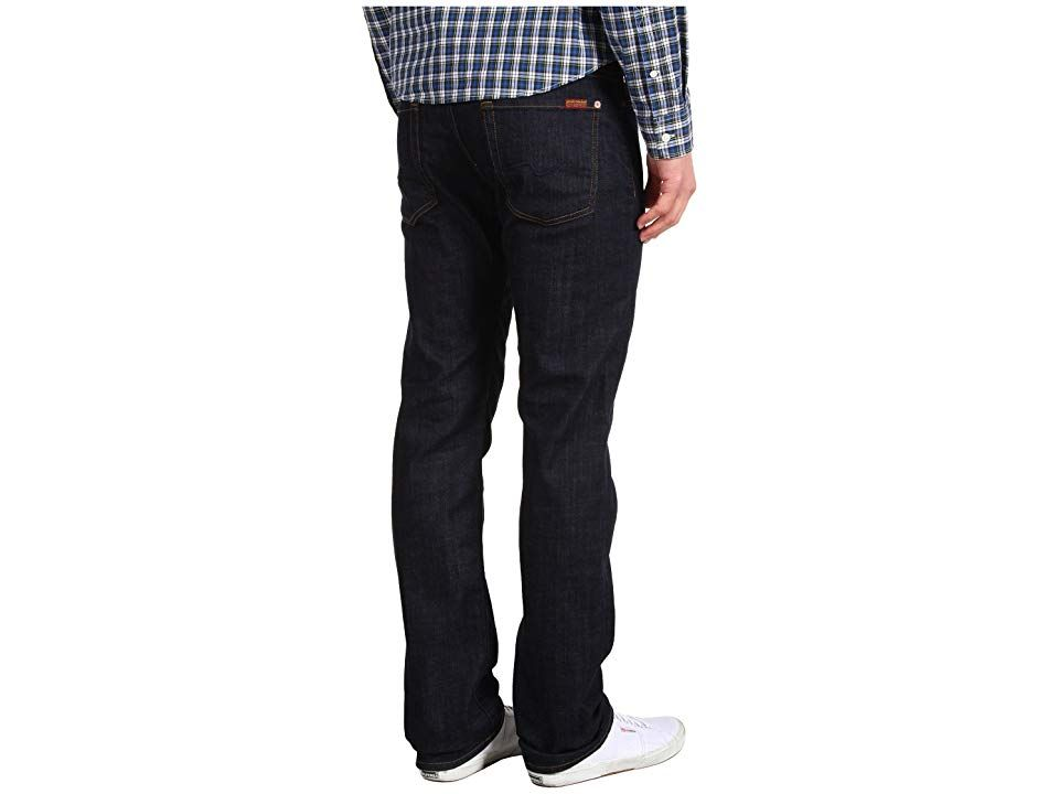 7 For All Mankind Standard Straight Leg in Dark and Clean Dark and Clean Mens Jeans Timeless 7 For All Mankinds original straight leg jean has a comfortable yet tailored...