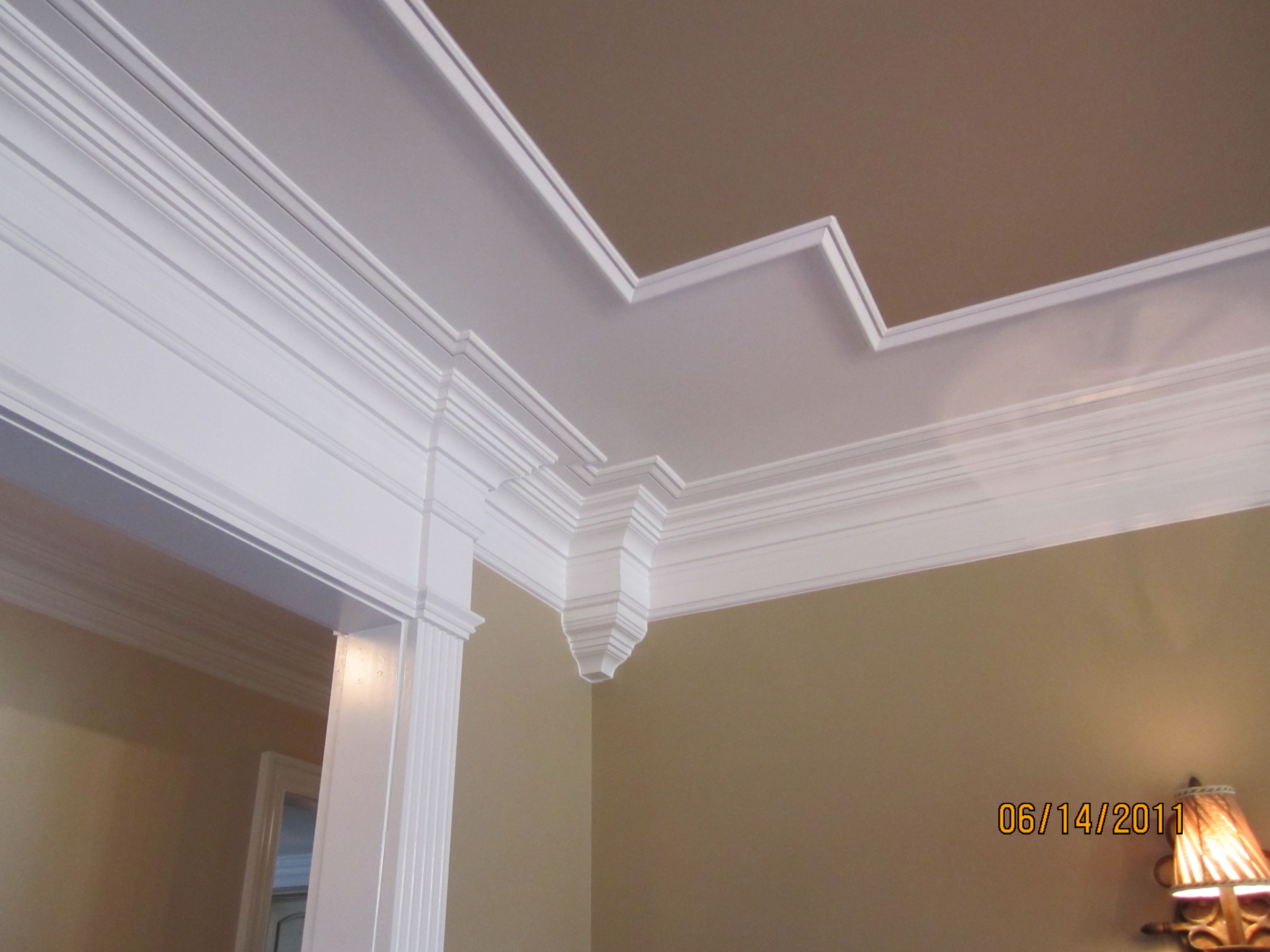 Design Tray Coffered Ceiling Into Header Over Cased Opening