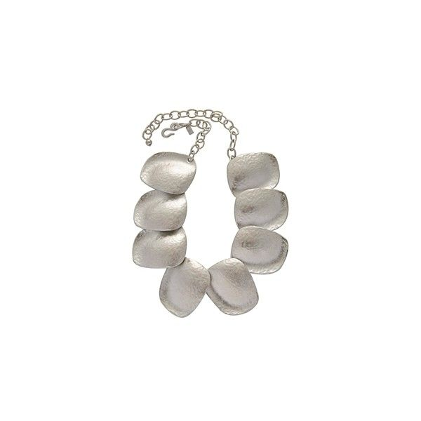 KENNETH JAY LANE Satin Silver Leaves Necklace ($160) found on Polyvore...love it...inspiration