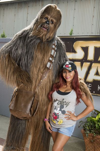 The force was strong with Snookie and her new Wookie pal.