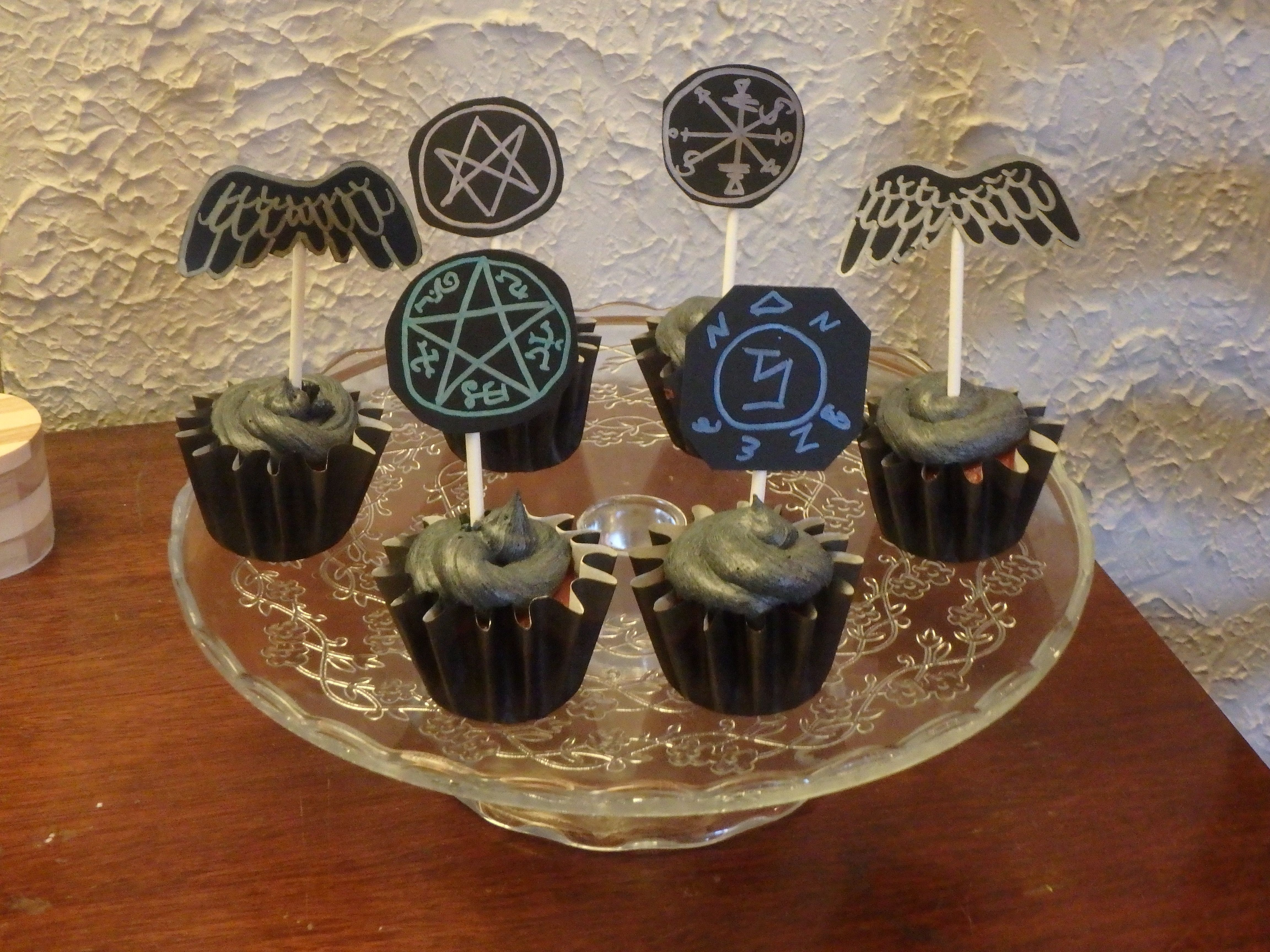 #Supernatural birthday cupcakes. #SPN