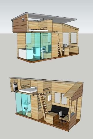 Interior plan for a tiny house to be built on an 8 x 20 for Programmi interior design