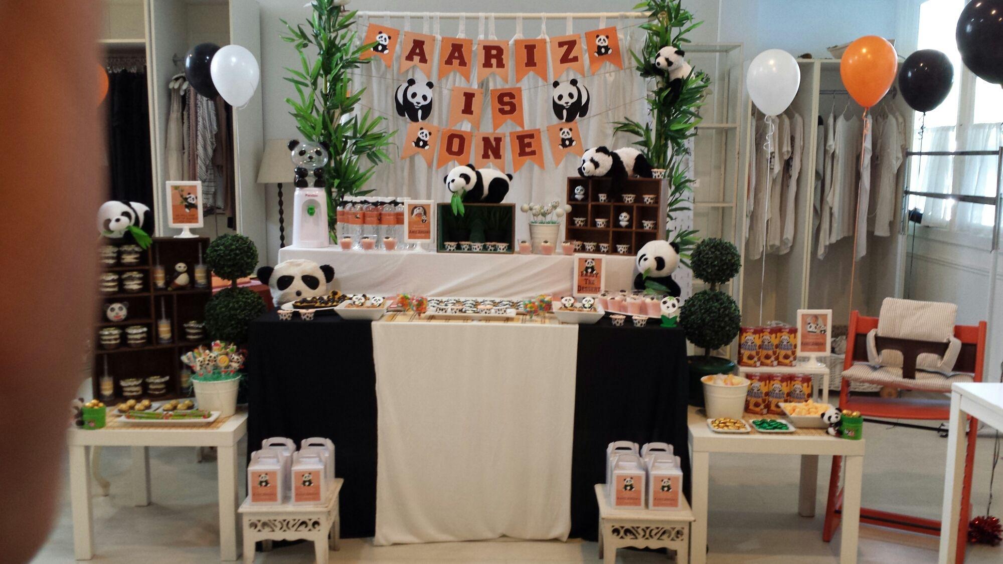 Panda party panda party table decorations