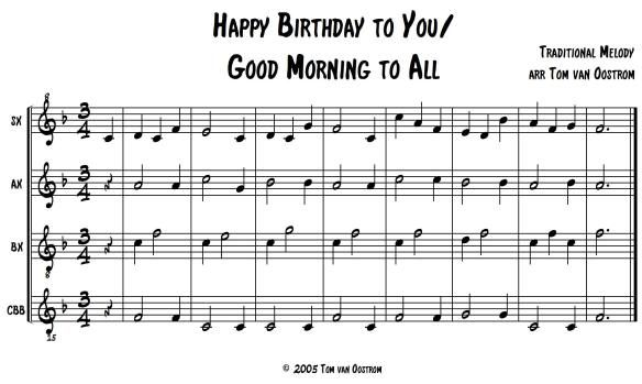 Happy Birthday To You Good Morning To All Orff Arrangement