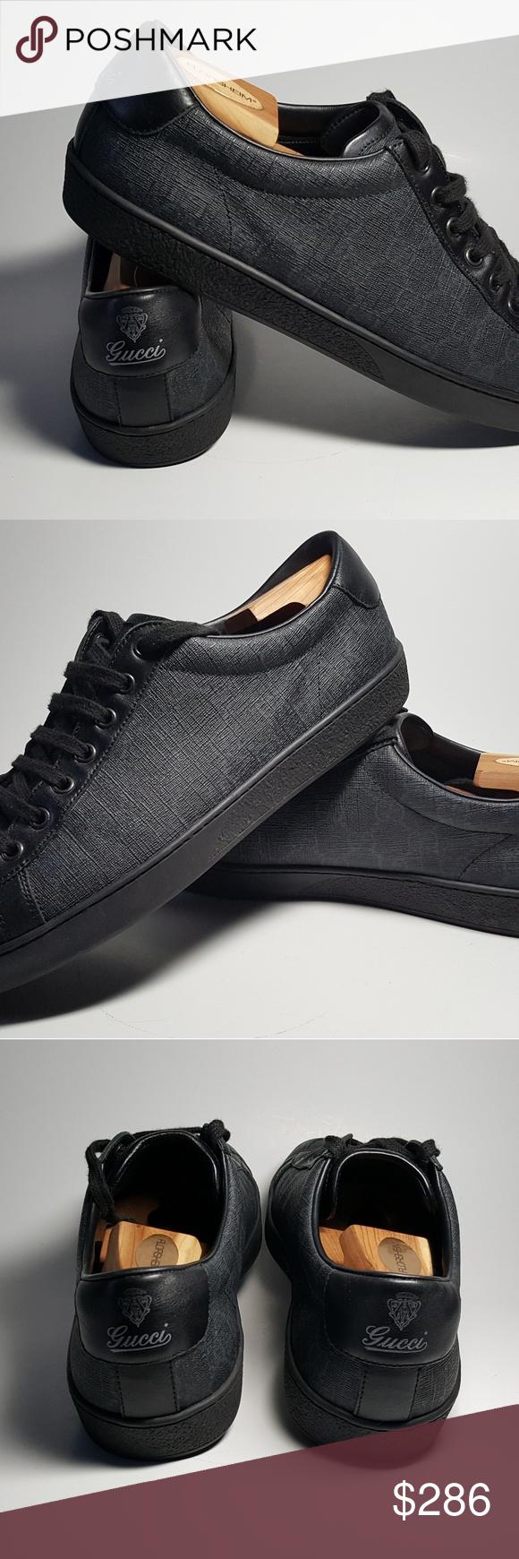 46df4795f Men's Gucci Tessuto GG Supreme Low Top Sneakers 100% Authentic Men's Gucci  Tessuto GG Supreme