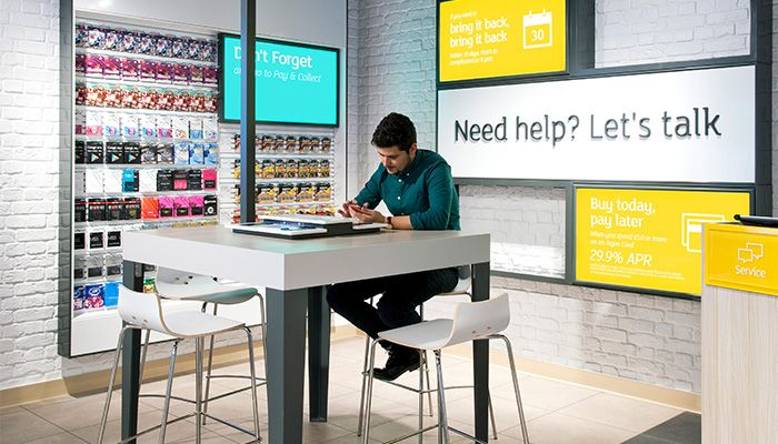case studies of new digital brand and store design by dalziel and