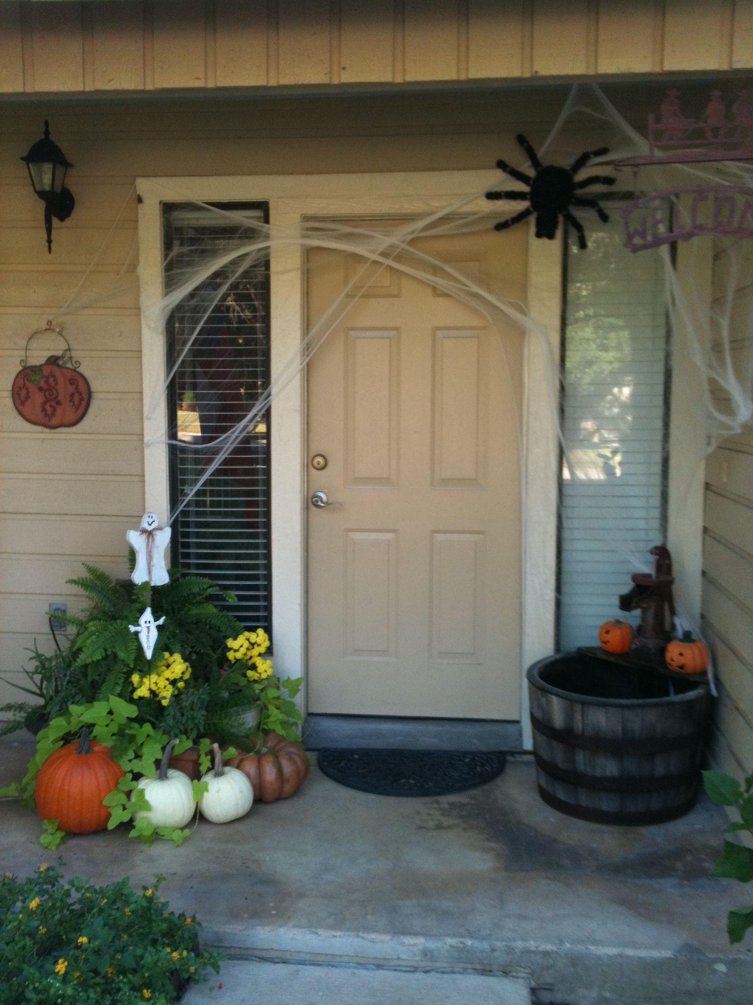 Halloween Front Porch Spooky Halloween Pinterest Spooky halloween - halloween front door decor