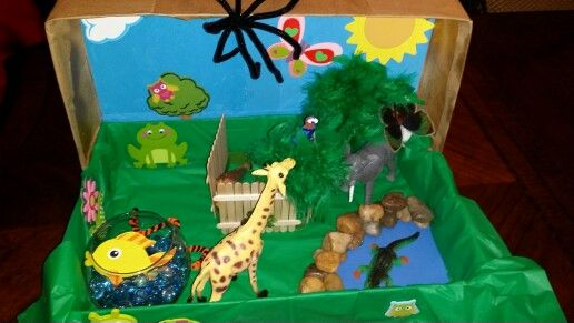 Box Zoo School Project Crafts