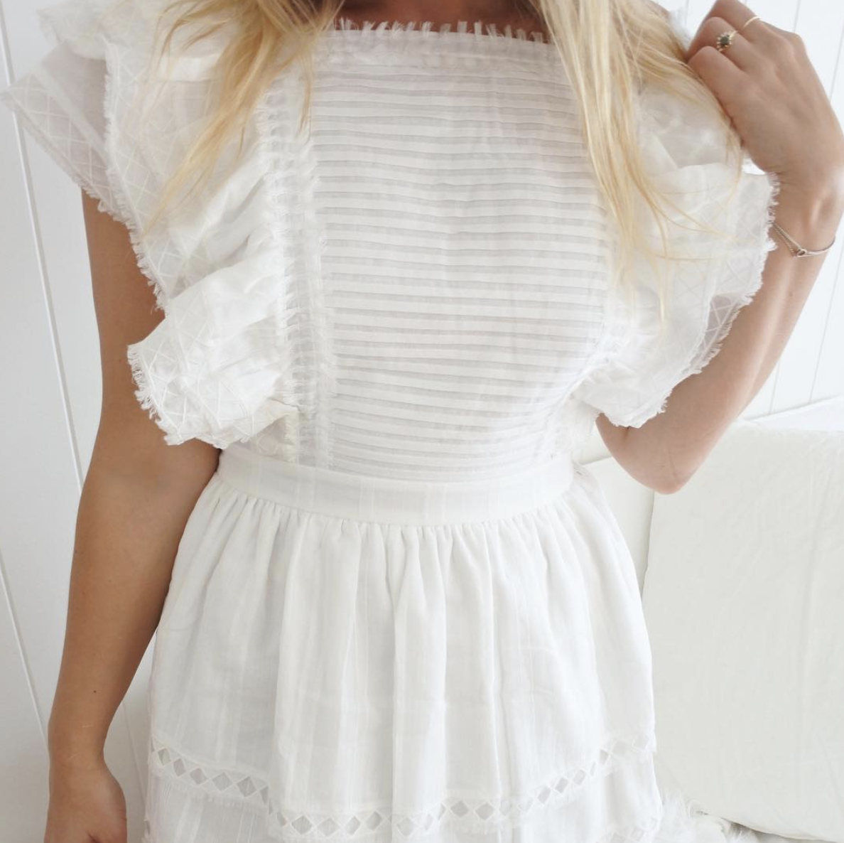 Sir The Label Dylan Ruffle Dress
