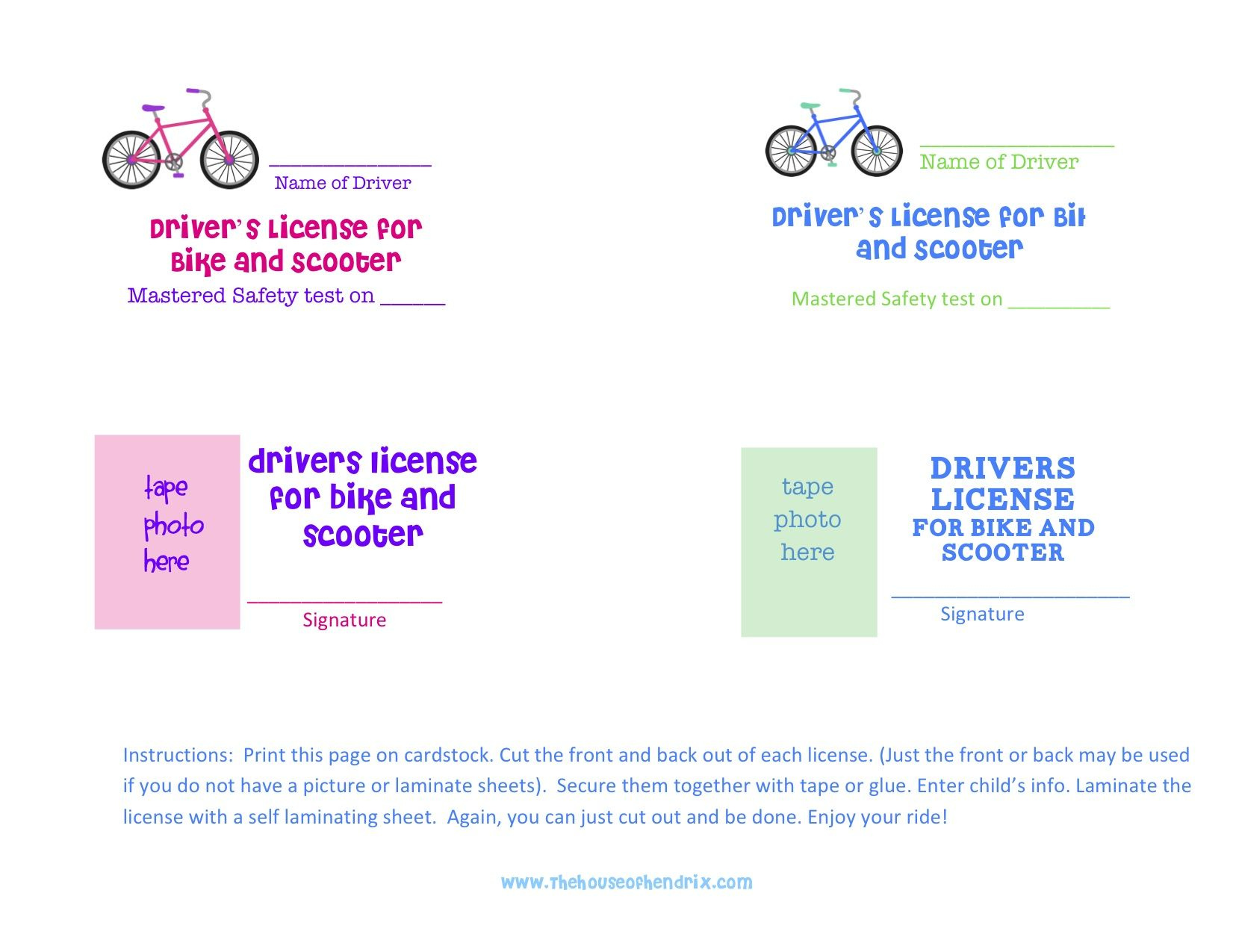 Bike License With Images