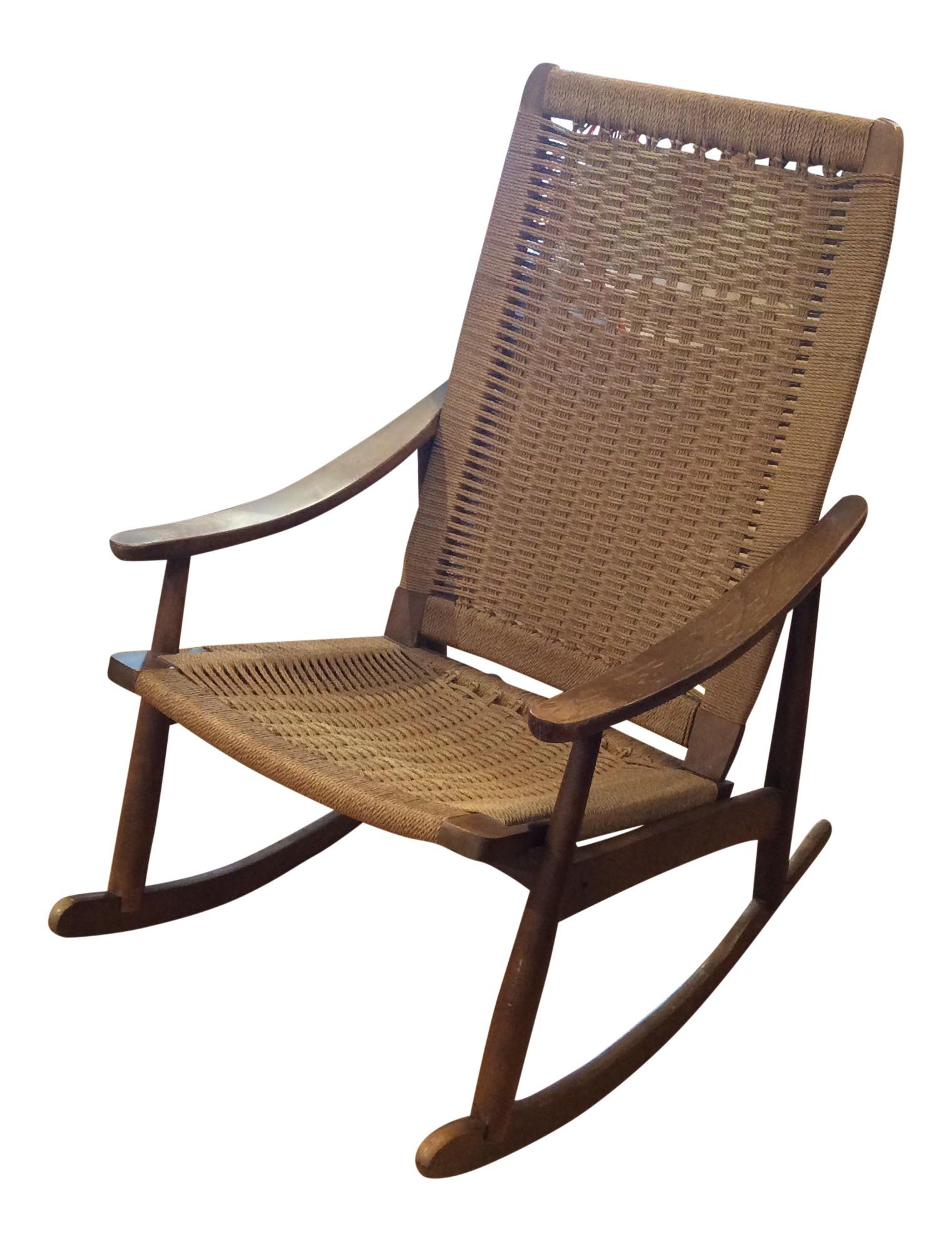 Vintage Mid Century Rocking Chair