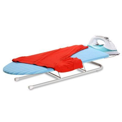 Honey Can Do Tabletop Ironing Board with Iron Rest