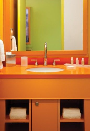 Pin by Trish on Citrus & Melon | Eclectic bathroom, Modern ...