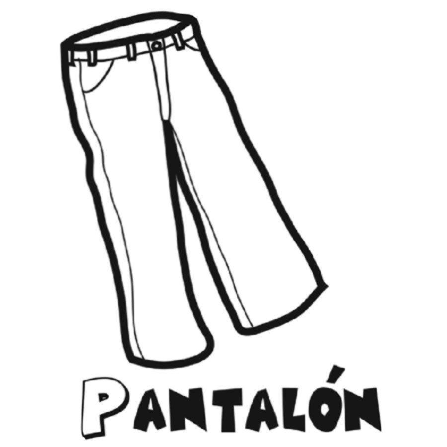 Dibujo De Un Pantalon Para Colorear Pantalon Para Colorear Pantalones Pantalones Dibujo