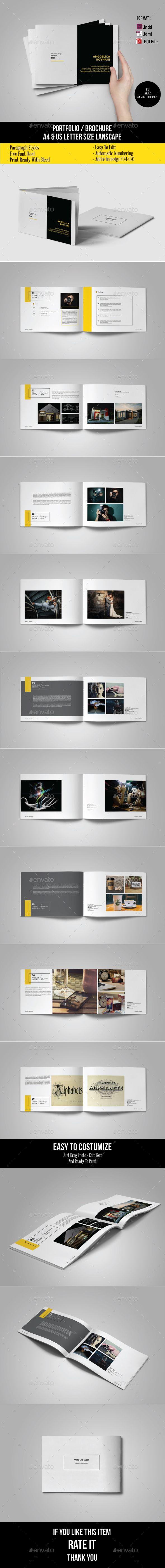 Multipurpose Portfolio Template | Brochure template, Brochures and ...