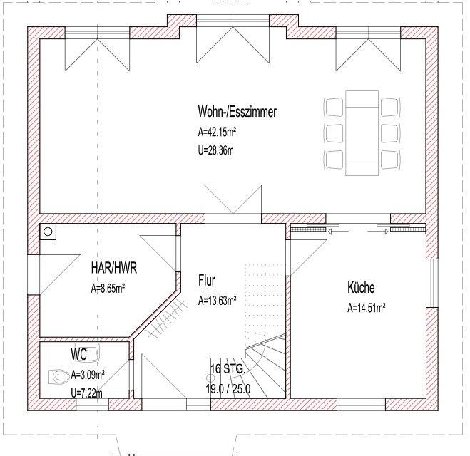 Grundriss Einfamilienhaus - modern und ohne Keller | Hausbau ...