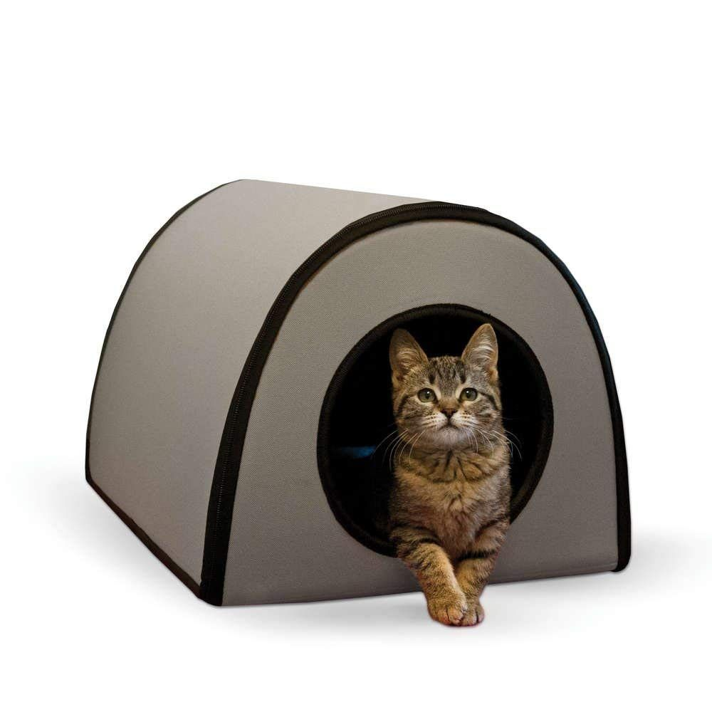 Kandh Pet Products Mod Thermo Kitty Shelter Gray 15 X 21 5 X 13 Want Additional Info Click On The Imag Cat Shelter Outdoor Cat Shelter Outdoor Cat House