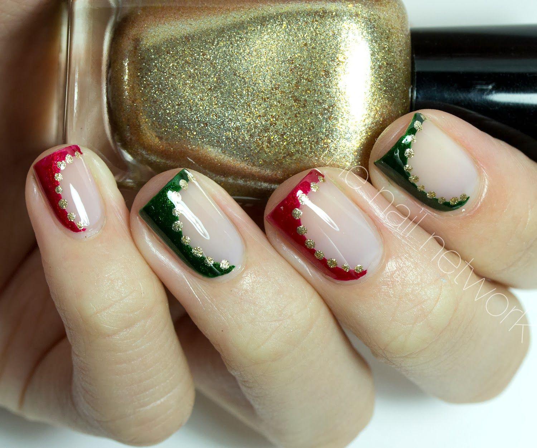 The Nail Network: TDOCNAS: Day 4: Elegant Side-Swept Christmas ...