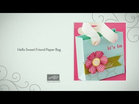 Hello Sweet Friend Paper Bag -- Brian Pilling