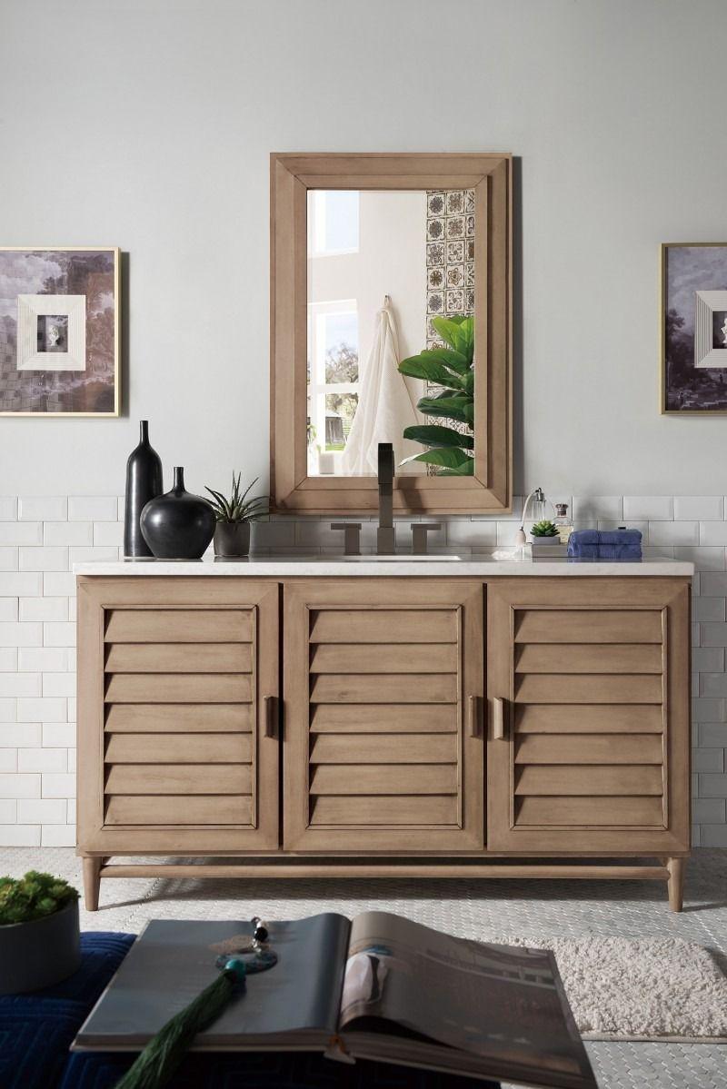 "Portland 60"" Single Sink Bathroom Vanity Cabinet ..."