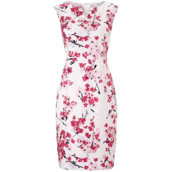 Precis Petite Floral Print Shift Dress, Pink/Multi ($185) ❤ liked on