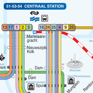Amsterdam Maps app for Android Useful offline metro map for
