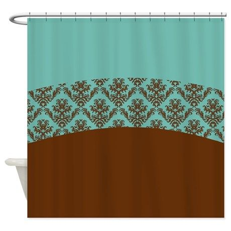 Turquoise Brown Shower Curtain on CafePress.com